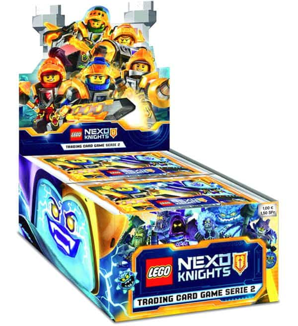 LEGO Nexo Knights Trading Cards Serie 2 - Display mit 50 Boostern