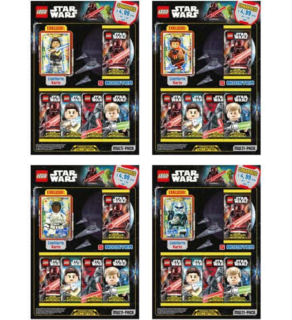 Lego Star Wars Serie 1 Trading Cards - Alle 4 Multi-Pack