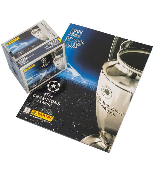 Panini Champions League 2008-2009 Display + Album Vorderseite