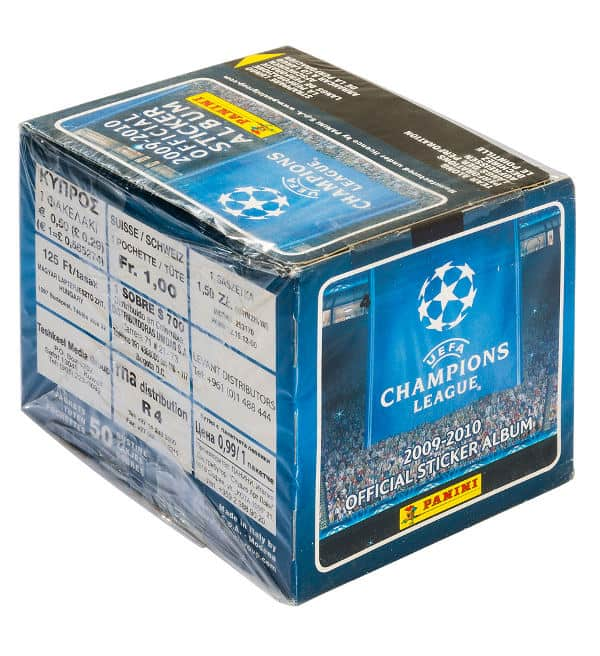 Panini Champions League 2009-2010 Display - Box Seite