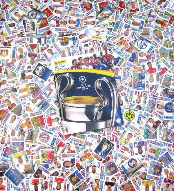 Panini Champions League 2014-2015 alle Sticker + Album