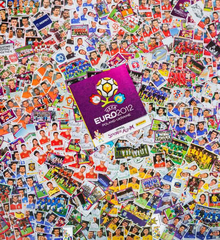Panini Euro 2012 internationale Version alle Sticker mit Album Vorderseite