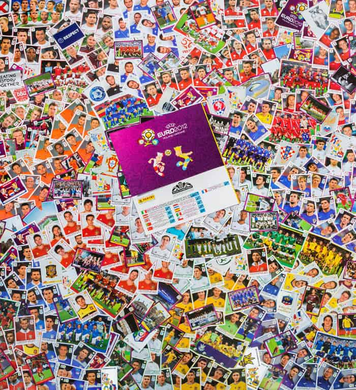 Panini Euro 2012 internationale Version alle Sticker mit Album Rückseite
