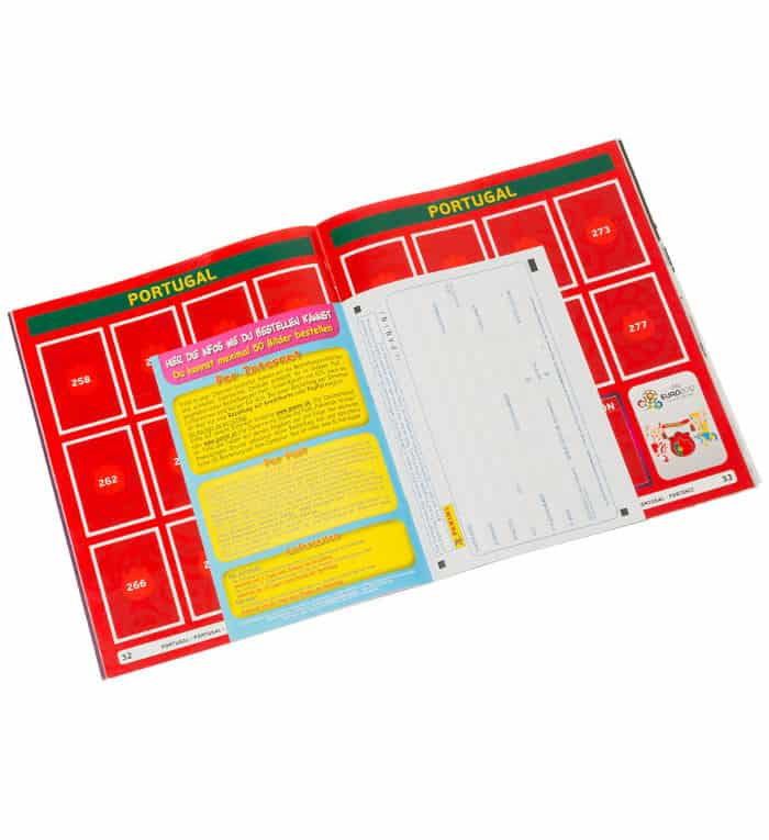 Panini Euro 2012 Bestellschein internationale Version