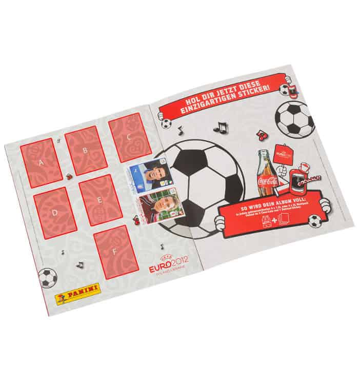 Panini Euro 2012 Sammelalbum internationale Version Promo-Seite