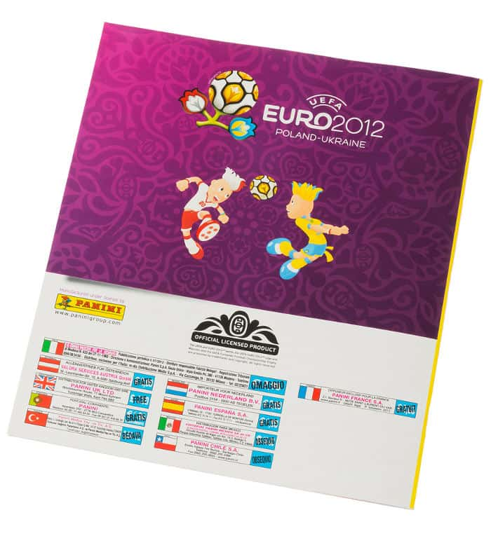 Panini EM Euro 2012 Sammelalbum international Rückseite