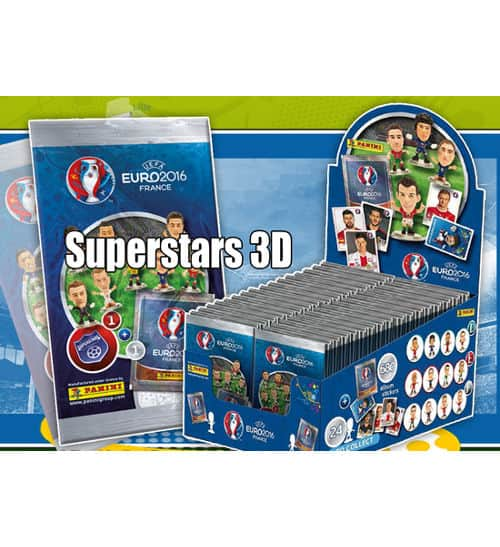 Panini EURO 2016 Superstars 3D Beutel + Display