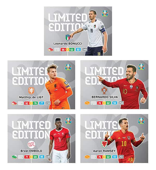 Panini EURO 2020 Adrenalyn XL Blister - Limited Edition Cards 06-10