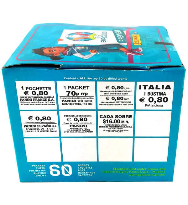 Panini EURO 2020 Preview Sticker - 60er Display Preis