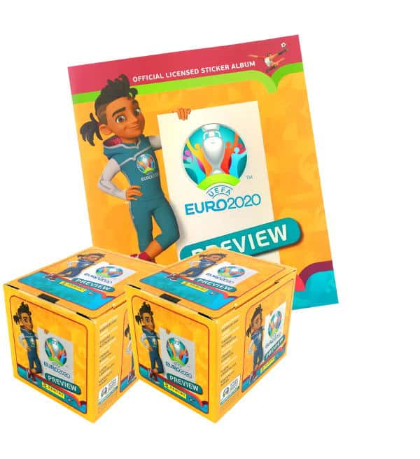 Panini EURO 2020 Preview Sticker - Album + 2 Displays