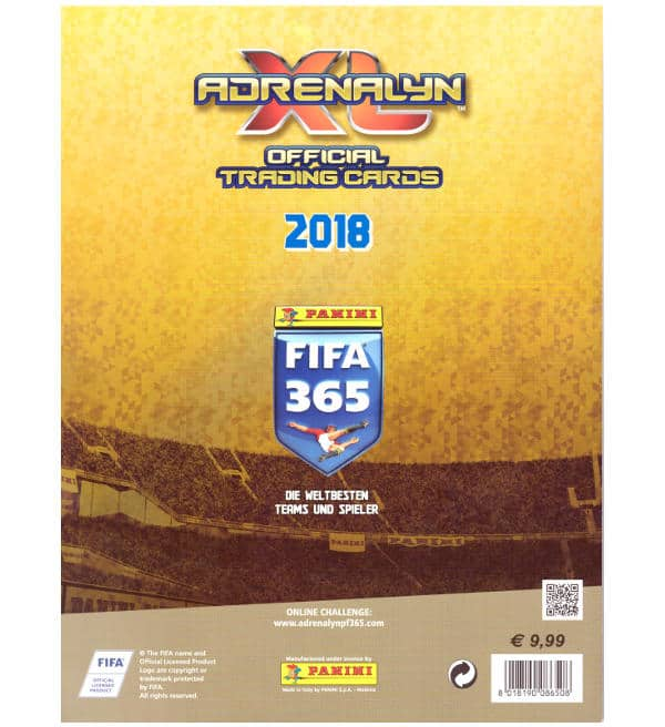 Panini FIFA 365 2018 Premium GOLD Adrenalyn XL