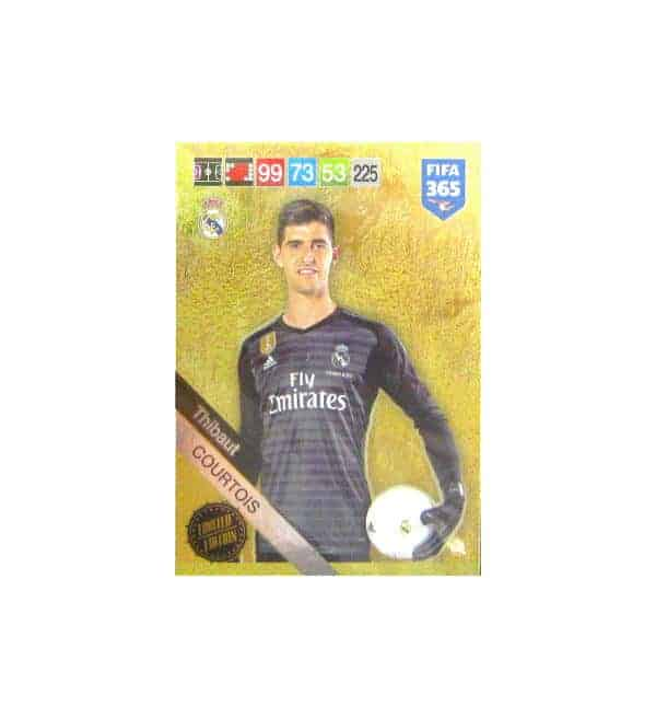 Panini FIFA 365 2019 Adrenalyn XL Thibaut Courtois Limited Edition Card