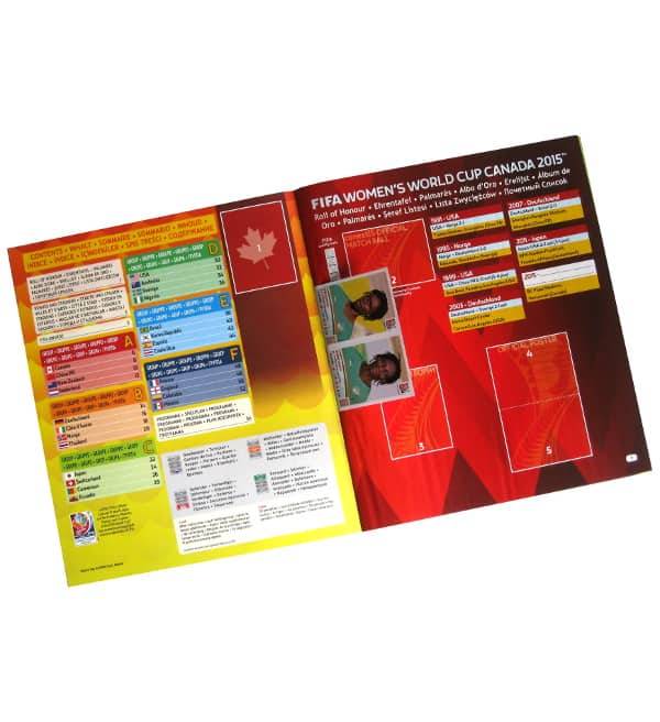 Panini Frauen WM Kanada 2015 Sticker Album Intro