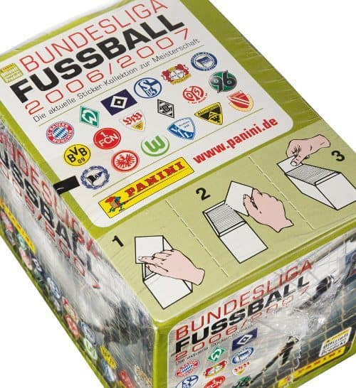 Panini Fussball 2006-2007 Box Display oben