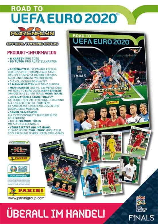 Panini Road to UEFA Euro 2020 Adrenalyn XL - Infoposter