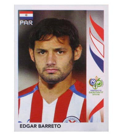 Panini WM 2006 Update Sticker Edgar Barreto falsch