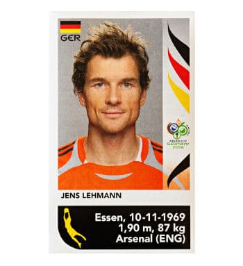 Panini WM 2006 Update Sticker Jens Lehmann vorne