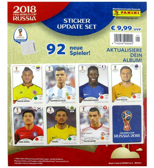 Panini WM 2018 Update Set
