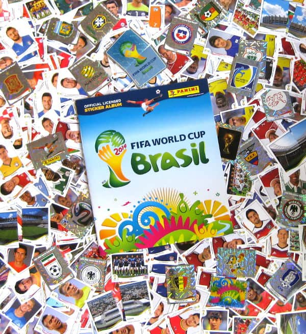 Panini WM Brasil 2014 - alle 640 Sticker + Album
