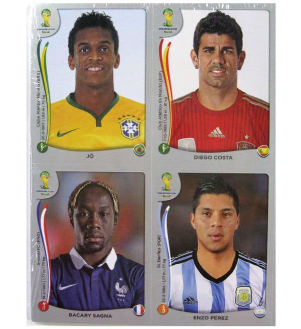 Panini WM Brasil 2014 Platinum Edition - Update Set nachnomminierte Spieler