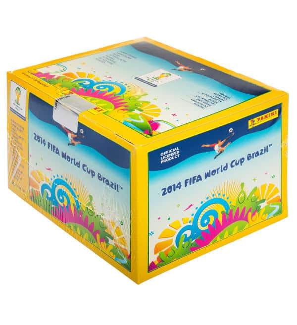Panini WM Brazil 2014 Display - Box mit 100 Tüten