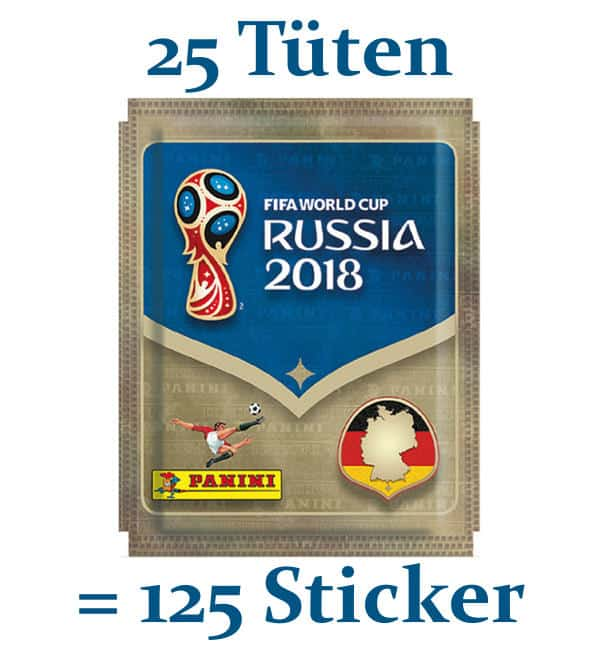 Panini WM 2018 Sticker - 25 Tüten