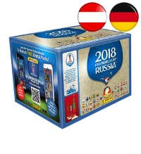 Panini WM 2018 Sticker - Display mit 100 Tüten