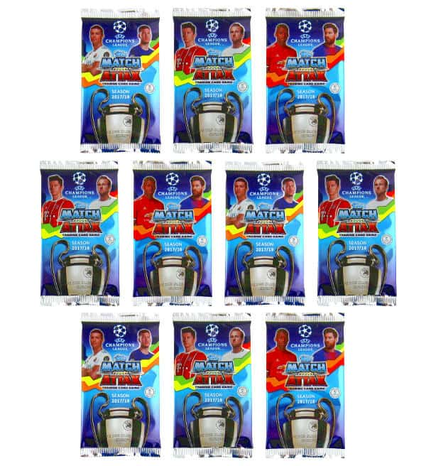 Topps Champions League Match Attax 17 / 18 - 10 Tüten