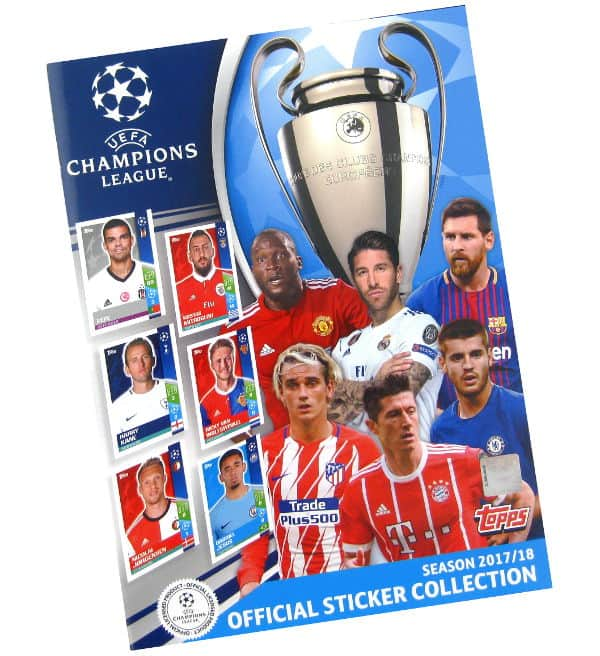 Topps Champions League Sticker 2017 2018 Album
