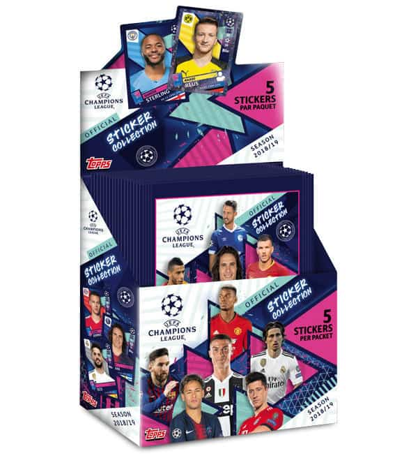 Topps Champions League Sticker 2018 / 2019 Display