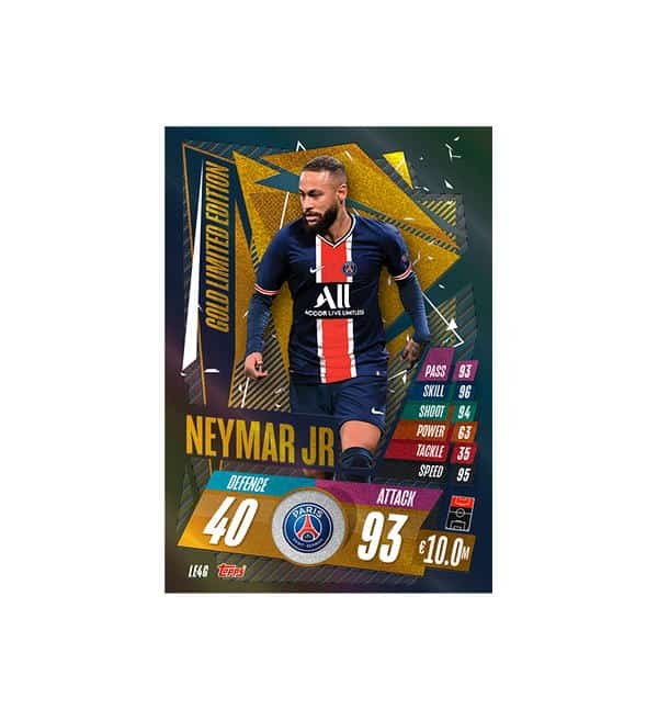 Neymar Gold Limited Edition Card