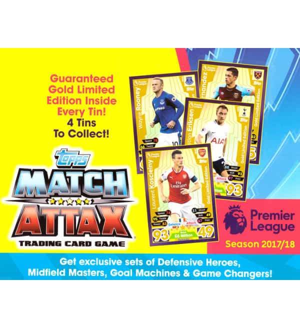 Topps PL Match Attax 17 / 18 Nordic Edition Tin - Cover
