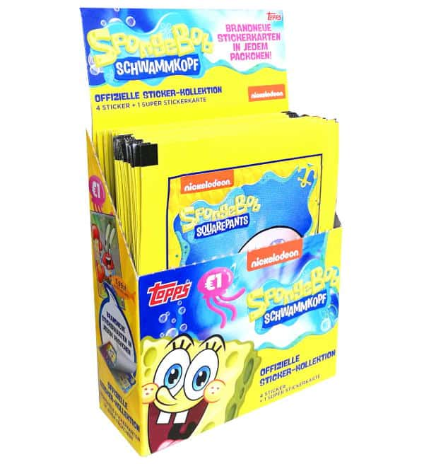 Topps SpongeBob 2020 Sticker - Display mit 30 Tüten
