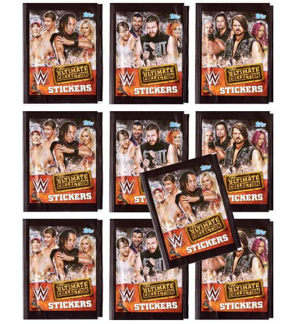 Topps WWE Ultimate Collection Sticker - 10 Tüten